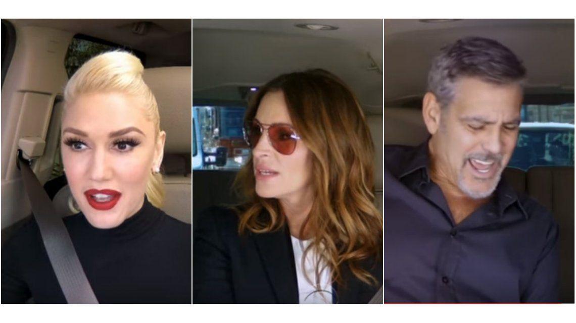 Desopilante video: el karaoke de Gwen Stefani, Julia Roberts y George Clooney