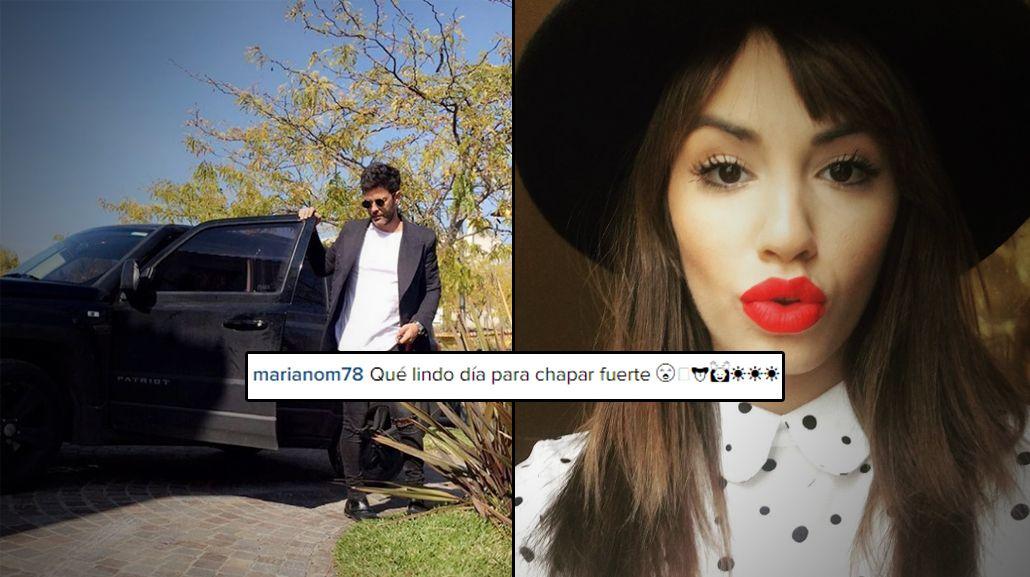 Mariano Martínez, alzado en Instagram: Qué lindo día para chapar fuerte