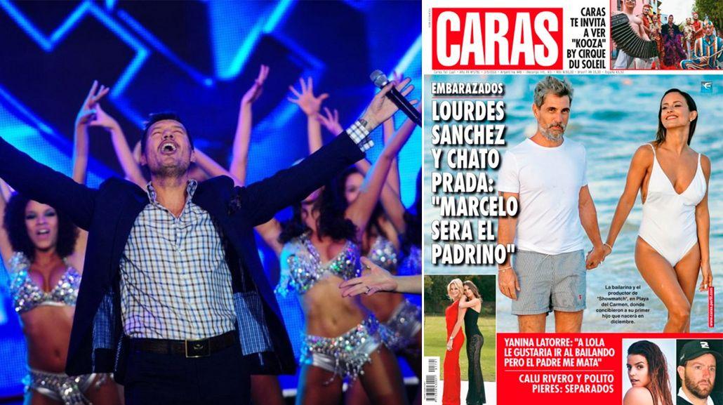Marcelo Tinelli se enteró que será padrino del futuro hijo del Chato Prada y Lourdes Sánchez por una revista: su reacción