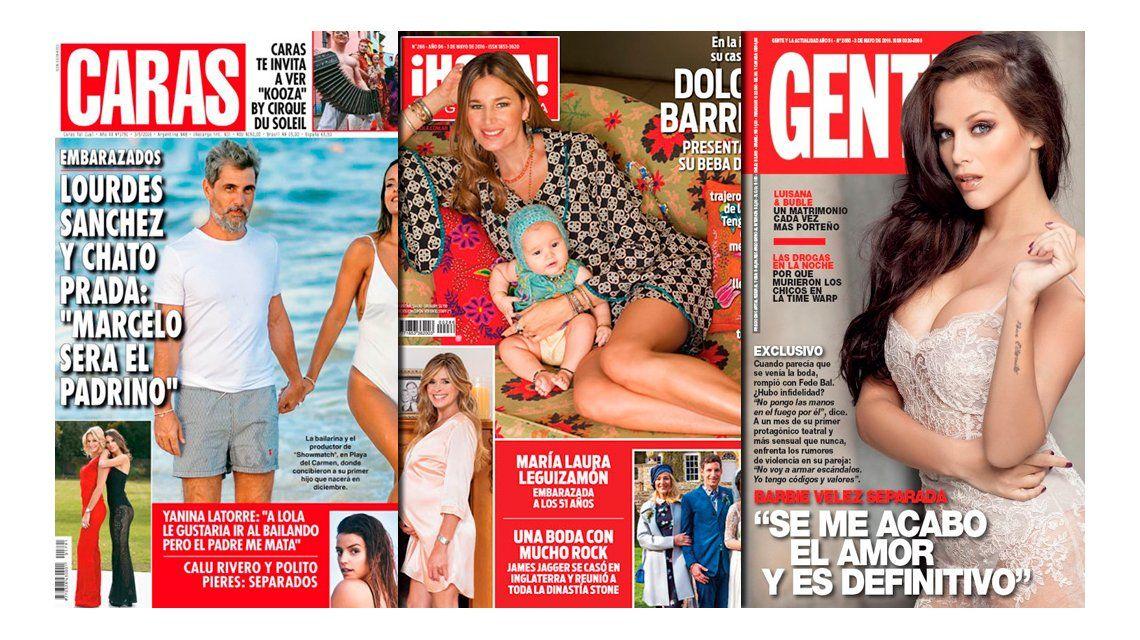 Barbie Vélez asegura que la ruptura con Fede Bal es definitiva; y Lourdes Sánchez y Chato Prada, felices, adelantan que Tinelli será el padrino de su hijo