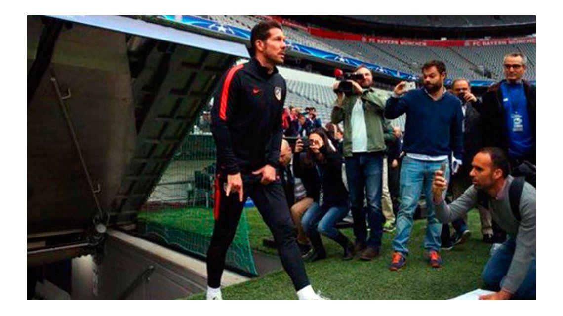 El gesto obsceno del Cholo Simeone en la previa de la semifinal de la Champions League