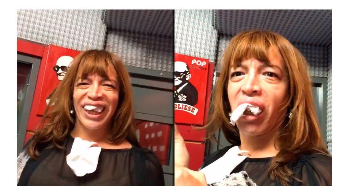 Lizy Tagliani presentó su nueva dentadura de una forma desopilante
