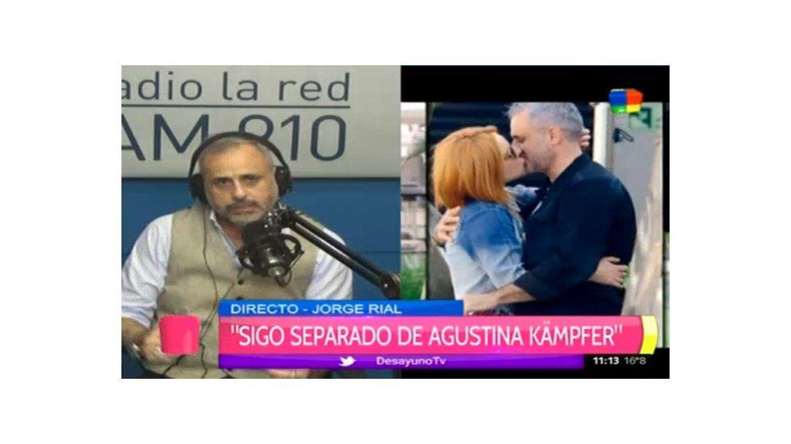 Jorge Rial confesó: La separación de Agustina es culpa mía; no la cuidé como ella se merecía