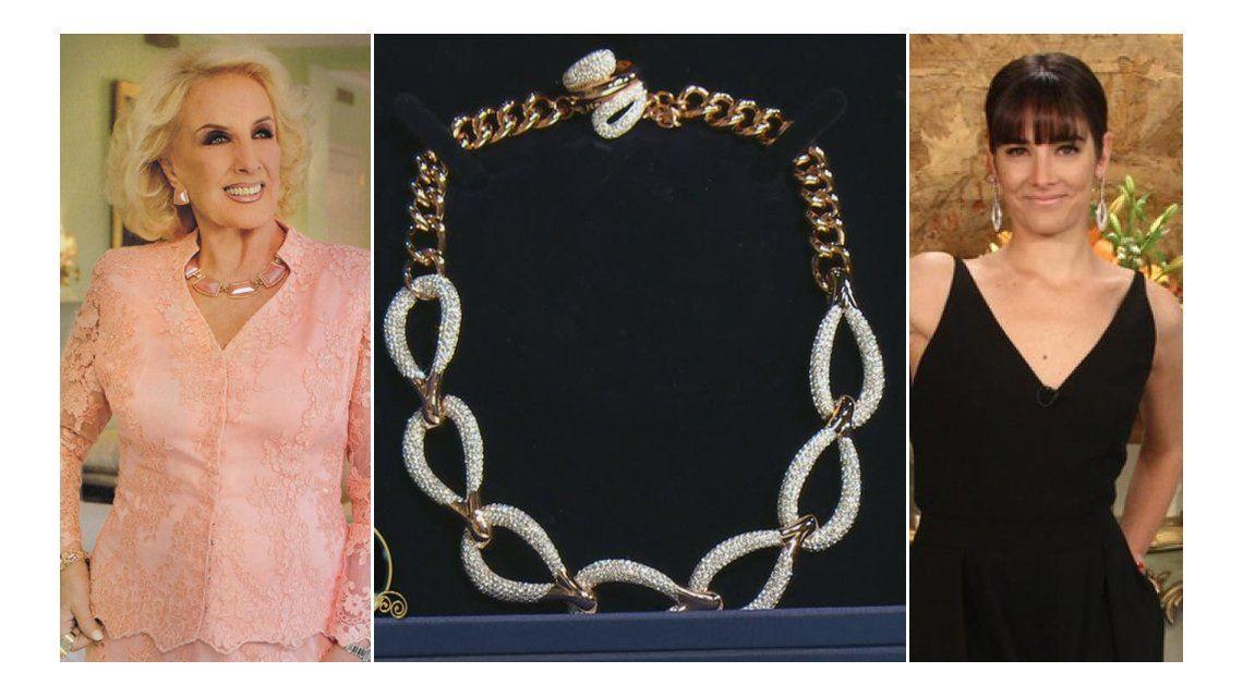 Mirtha Legrand, increpada por Juana Viale para que done el collar que le regaló Hugo Moyano