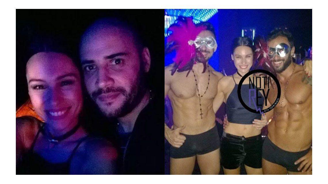 La noche de fiesta de Pampita, rodeada de strippers