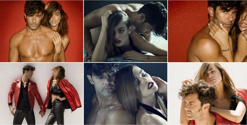 Nueva campaña hot de Mariano Martínez con una modelo internacional