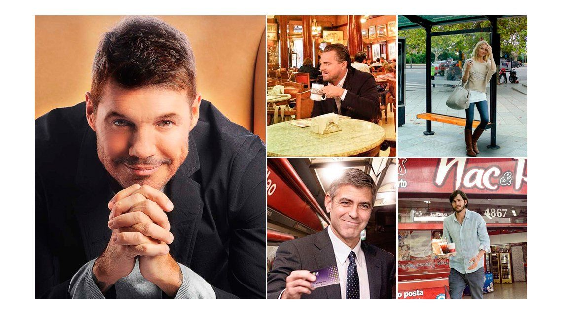 Marcelo Tinelli parodió la visita de John Travolta al país: ¡Cameron Díaz esperando el bondi, están todos!