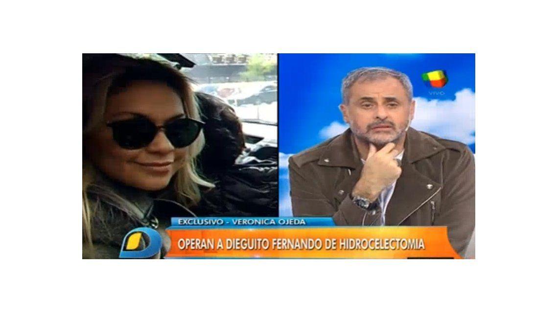 Operaron a Dieguito Fernando y Verónica Ojeda dispara: Maradona no lo llamó, Gianinna sí