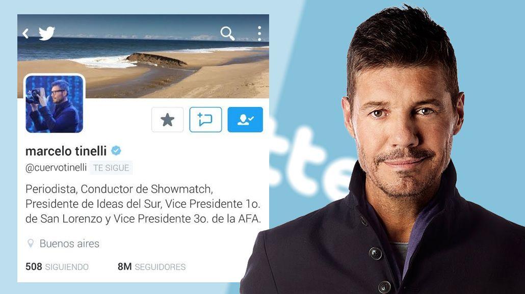Marcelo Tinelli llegó a los ¡8 millones! de seguidores en Twitter