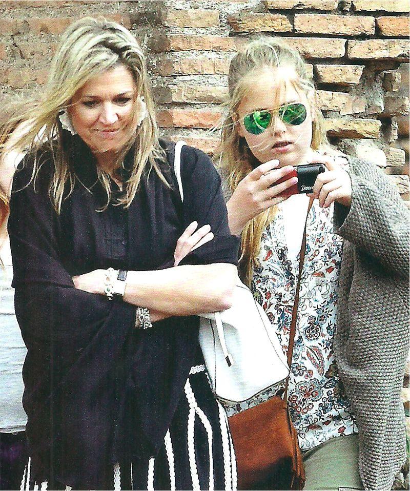 Las fotos de las vacaciones de Máxima en Roma junto a su familia