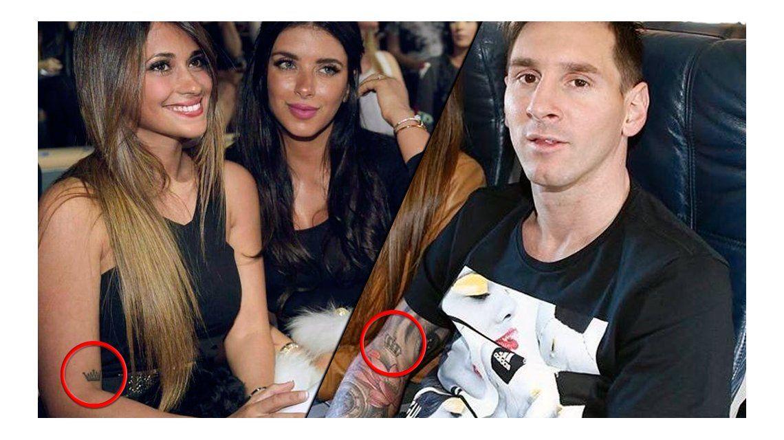 Mirá el romántico (y particular) tatuaje que comparten Lionel Messi y su mujer, Antonella Roccuzzo