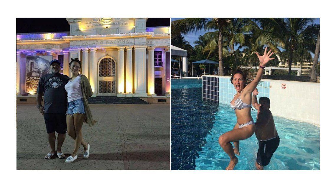 Diego Maradona y Rocío Oliva se divierten en Nicaragua