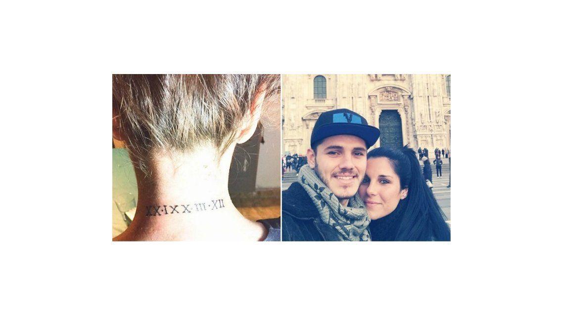 La burrada de Icardi: mirá el error del tatuaje de la hermana del futbolista