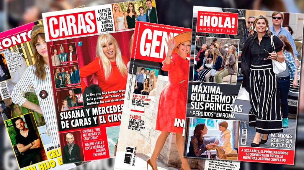 Tapas de Revistas: Las vacaciones de Máxima y la confesión de Esteban Lamothe