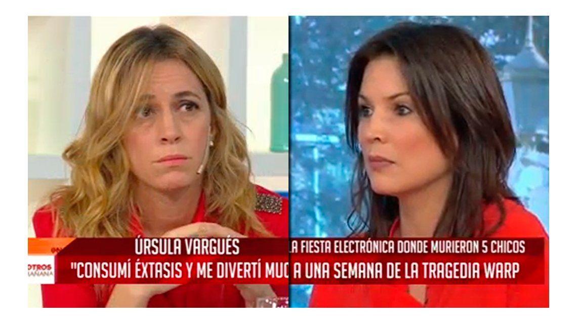 Sandra Borghi cruzó a Úrsula Vargués por el consumo de drogas: Te cerraría el micrófono