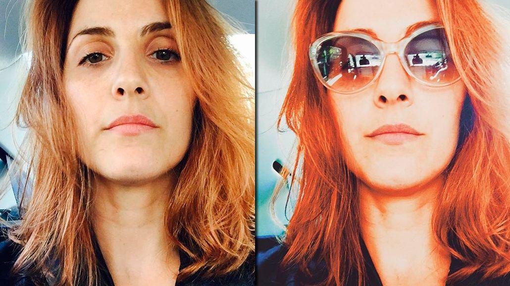De negro azabache a colorado: el nuevo look de Julieta Díaz