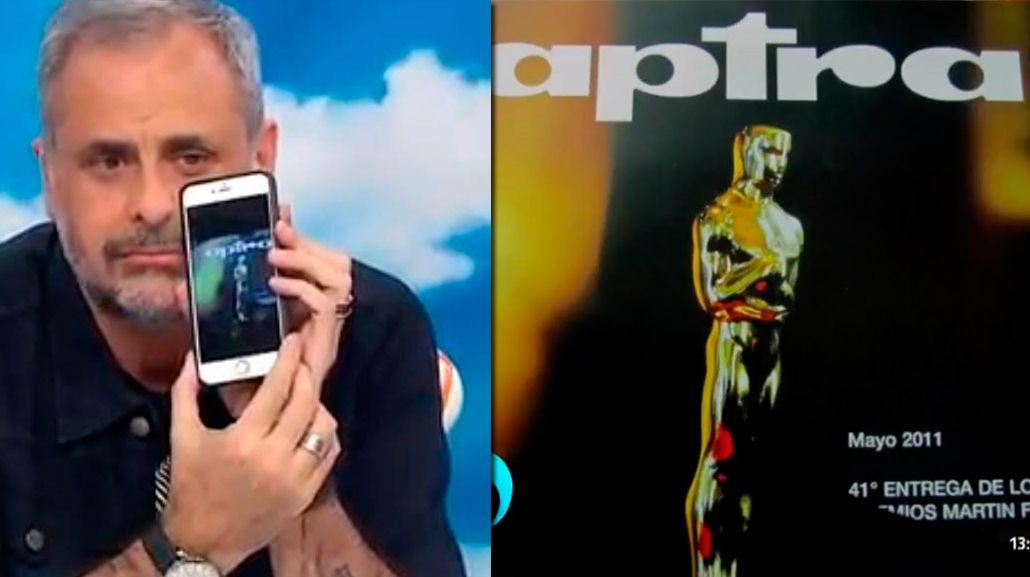 Insólito error en la previa a los Martín Fierro: El p... había puesto el Oscar, contó Jorge Rial