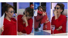 Ernestina, desbordada en TV: orzuelo, fiebre, lentes oscuros y palos para todos