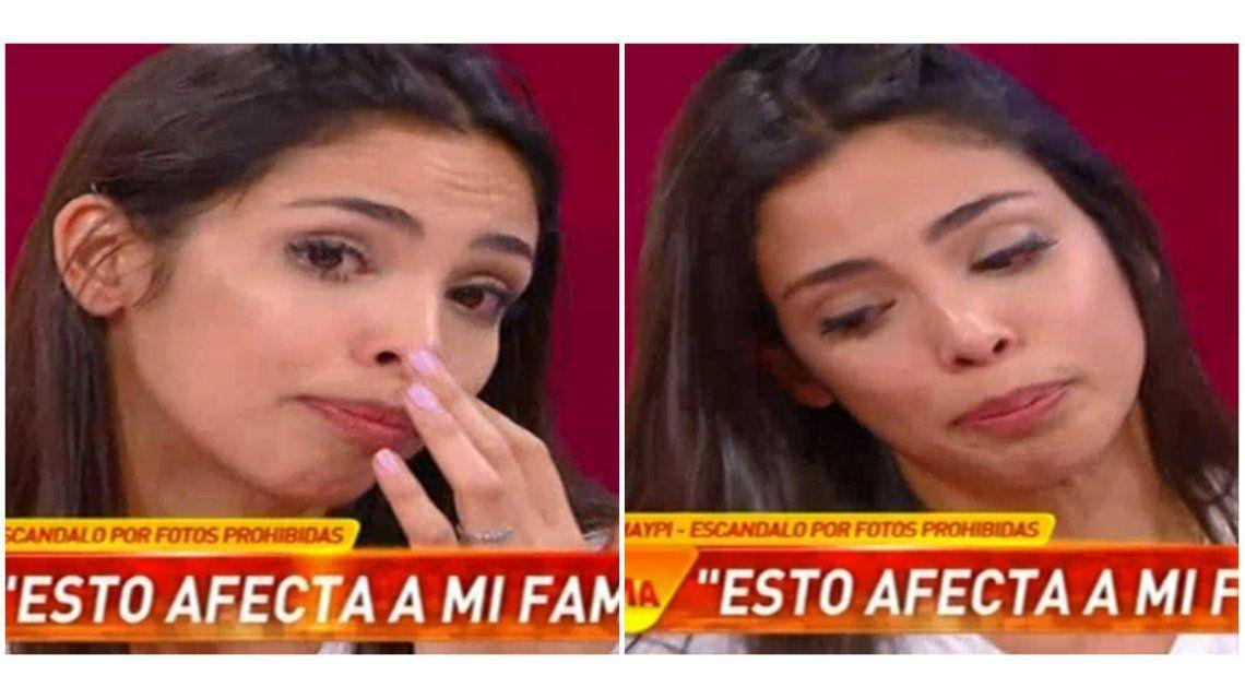 Maypi Delgado lloró en vivo por las fotos hot: Se creen que sos put... porque mandaste una foto