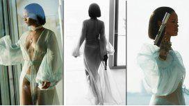 Las fotos hot de Rihanna: desnuda, con un arma y fumando marihuana