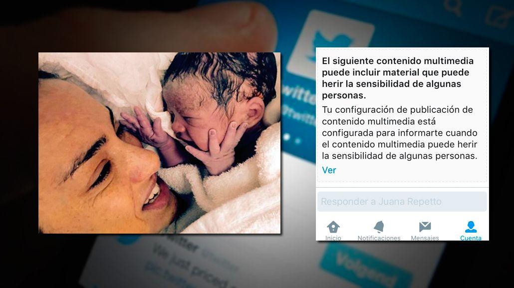 María Julia Oliván: Patético, publiqué una foto amamantando a Antonio y Twitter me la censuró