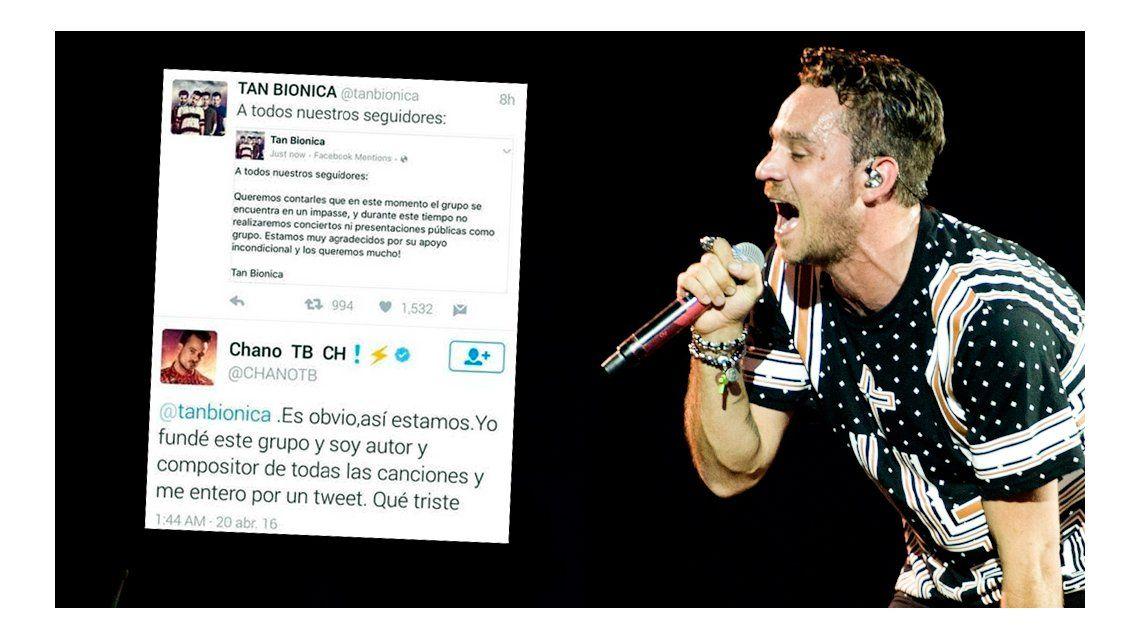 Chano vs. Tan Biónica: Me enteré (de la separación) por un tweet, qué triste