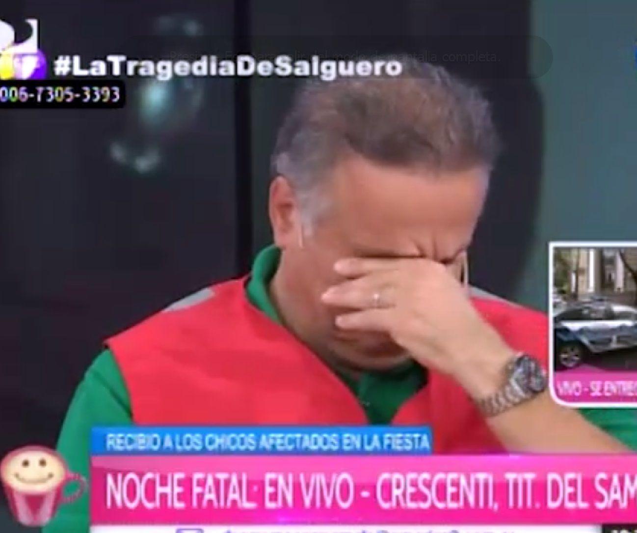 Alberto Crescenti se quebró  al hablar de las víctimas de la Time Warp: No veamos más camas vacías