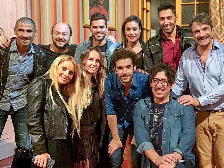 Fernando Gago y el Cata Díaz fueron a ver El quilombero