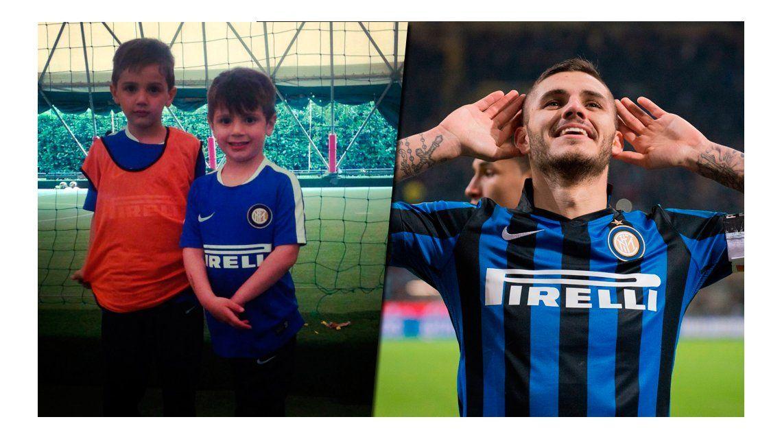 Tras los pasos de Icardi: Benedicto, el hijo de Wanda Nara debutó en el Inter