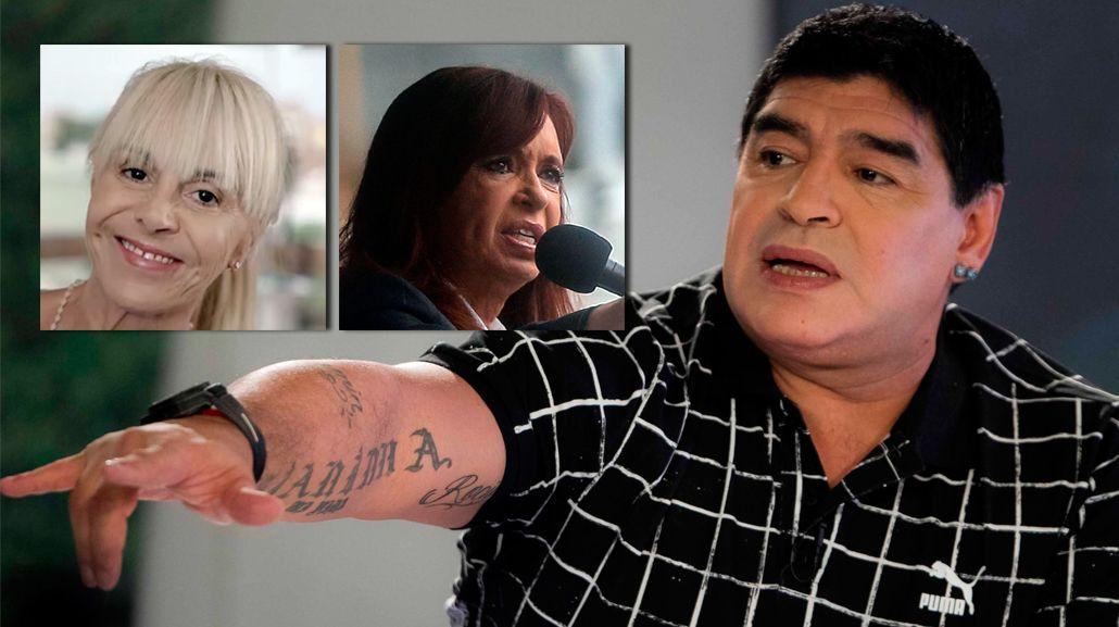 El descargo de Diego Maradona: sigue la guerra con Claudia Villafañe y apoyó a Cristina Kirchner