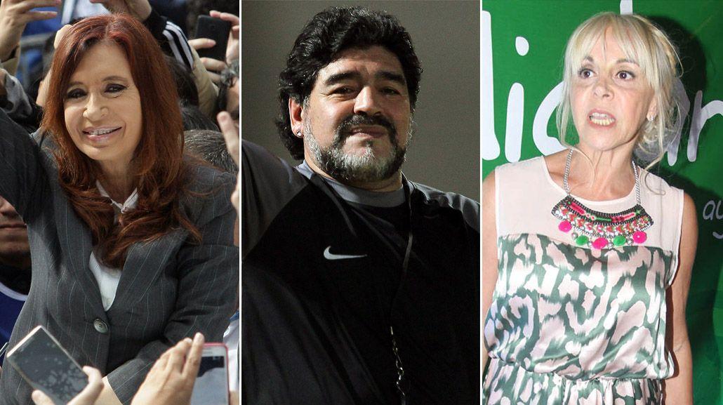 Diego Maradona apoyó a Cristina y contraatacó a Claudia Villafañe: Voy a seguir luchando