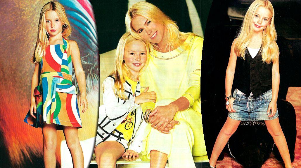A los 7 años, la hija de Valeria Mazza debuta como modelo: sus fotos