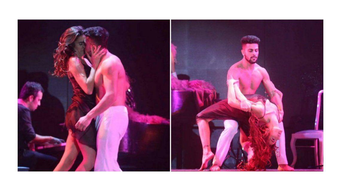 Juana Viale, a los besos con Facundo Mazzei en el teatro