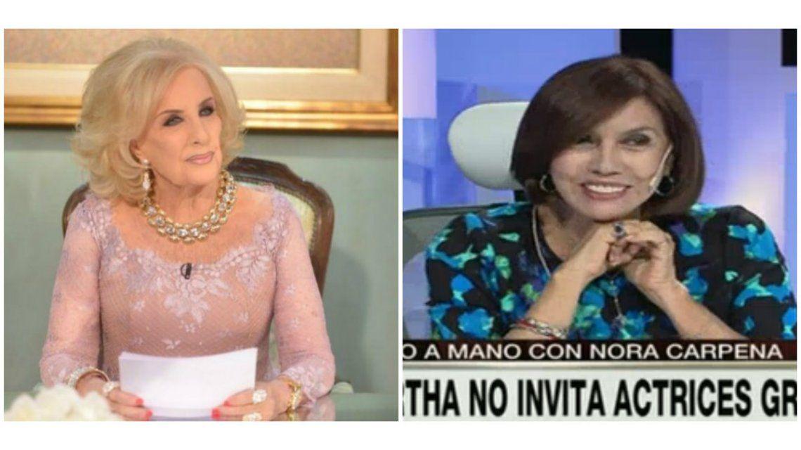 Nora Cárpena: Mirtha puso a Macri y nos llenó el teatro, es hacedora de todo
