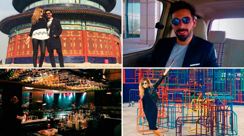 Las costumbres argentinas de Pocho Lavezzi y Yanina Screpante, instalados en China