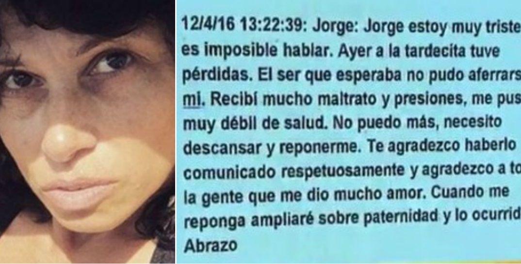 Érica García perdió el embarazo: Recibí maltrato, presiones y me puse débil de salud