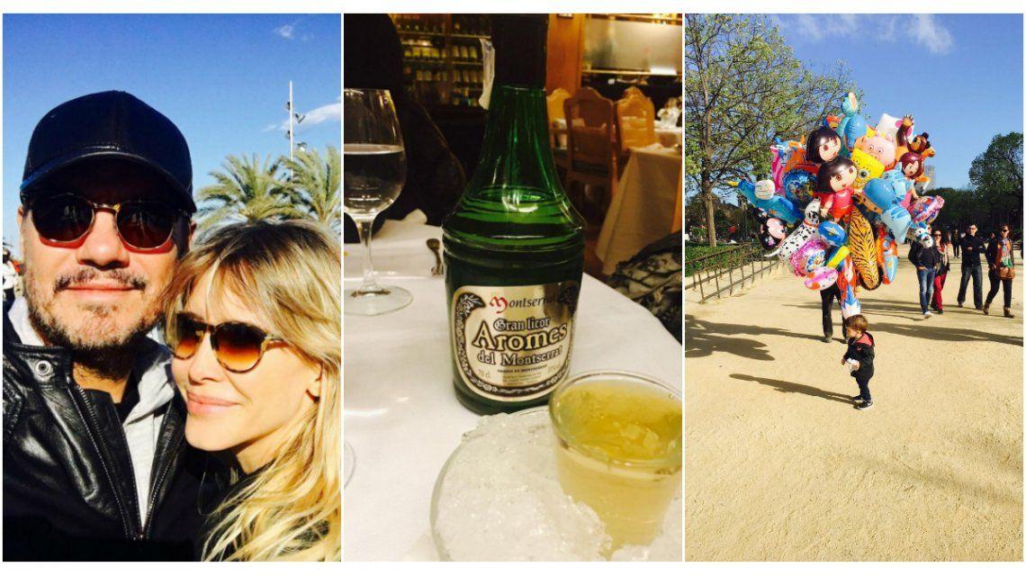 Las vacaciones de Marcelo Tinelli y Guillermina Valdes en Barcelona