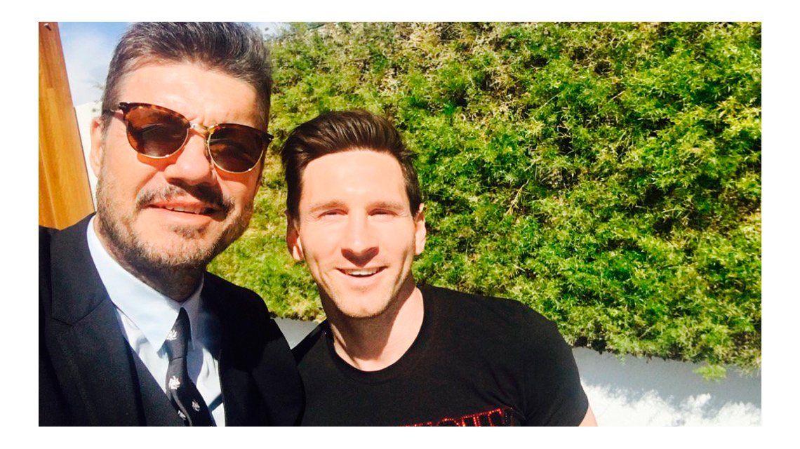 El encuentro de Marcelo Tinelli y Lionel Messi en Europa