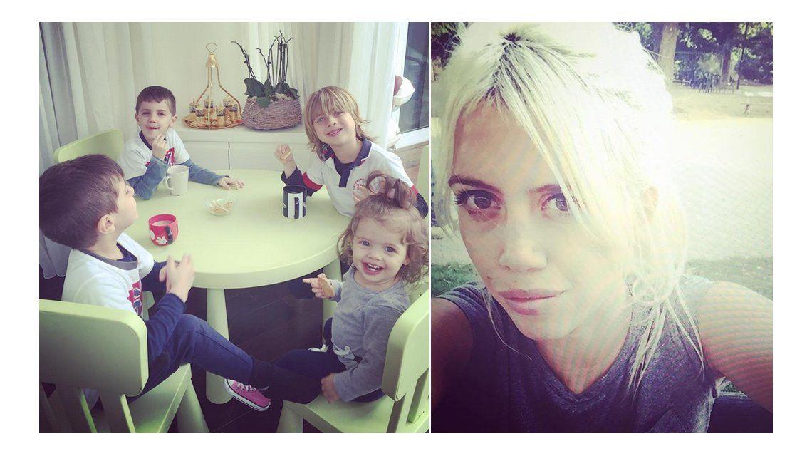 Después de 20 días sin verlos por impedimento de Maxi López, Wanda Nara se reencontró con sus hijos
