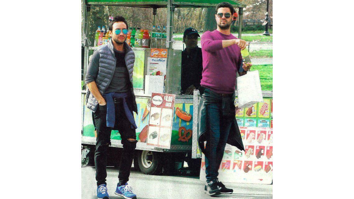 Las vacaciones de Luciano Pereyra con un amigo en Nueva York