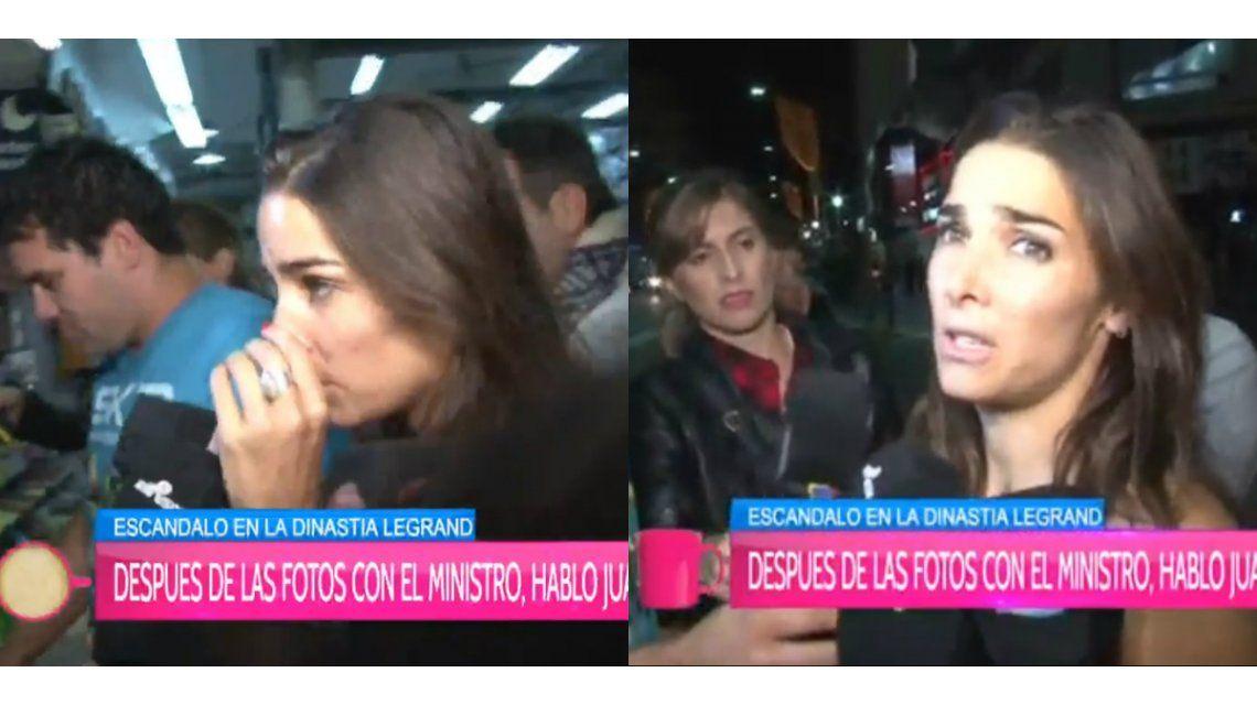 Furiosa salida del teatro de Juana Viale: tensión y ninguneo a la prensa