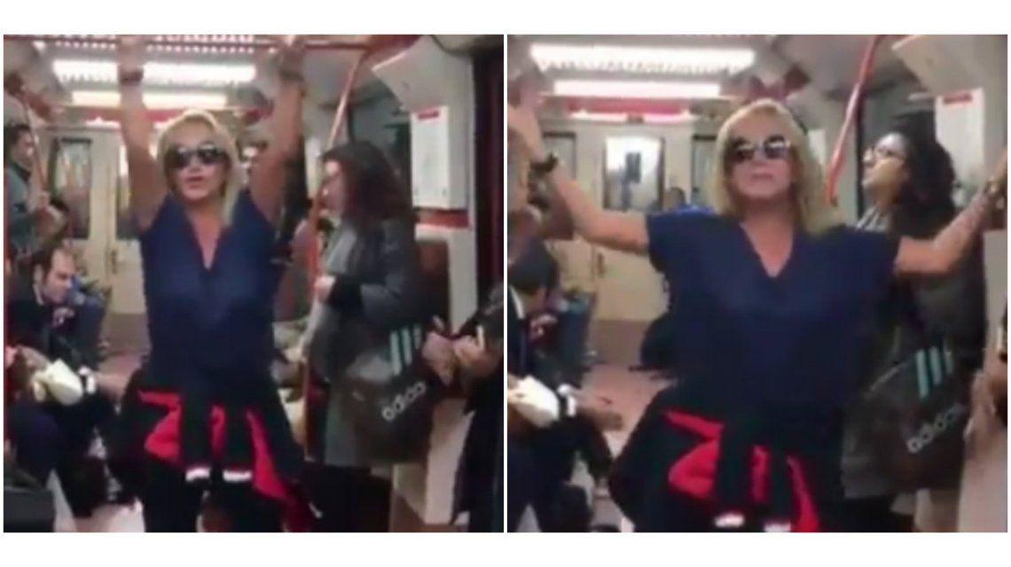 Insólito vídeo de Solita Silveyra bailando en el metro de Madrid