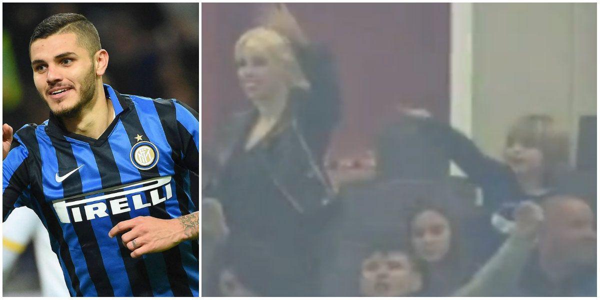 Video: el hijo de Maxi López festejó el gol de Mauro Icardi