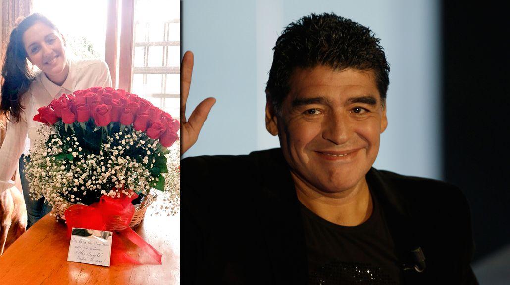 Por todos los cumpleaños que no estuve...Feliz cumple, hijita, le escribió Diego Maradona a Jana