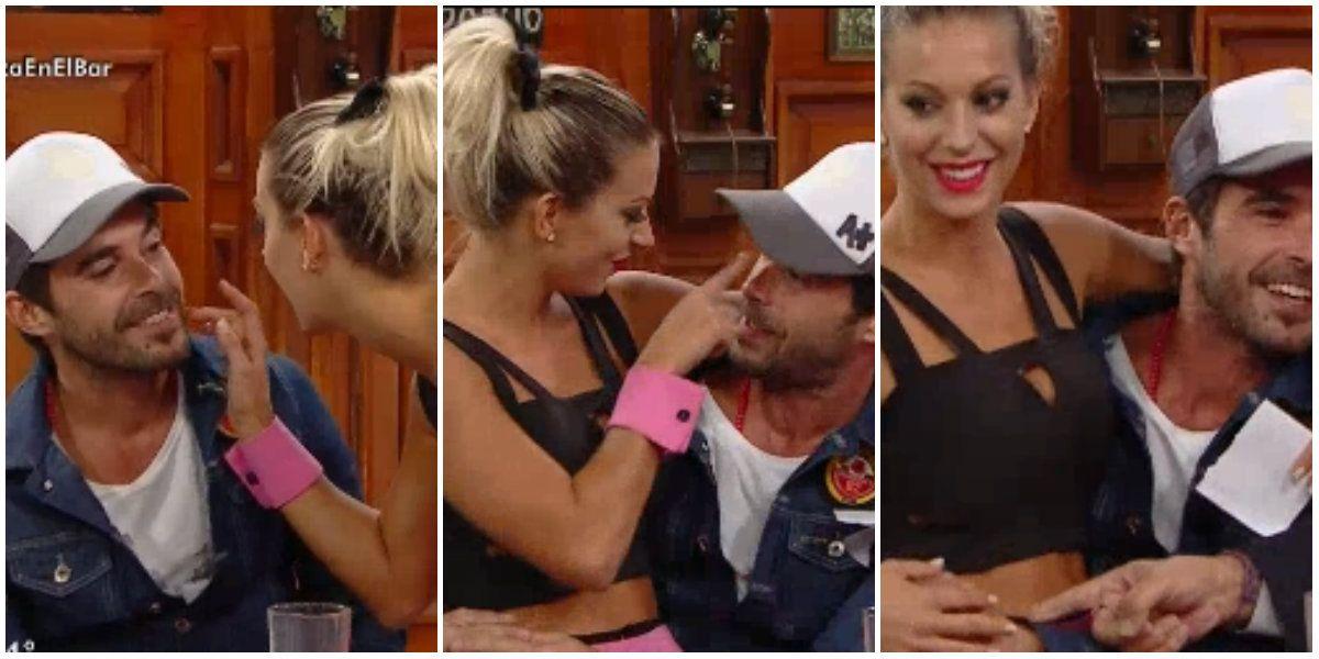 Noelia Marzol histeriqueó a Nicolás Cabré en vivo ¿y arrugó para el beso?