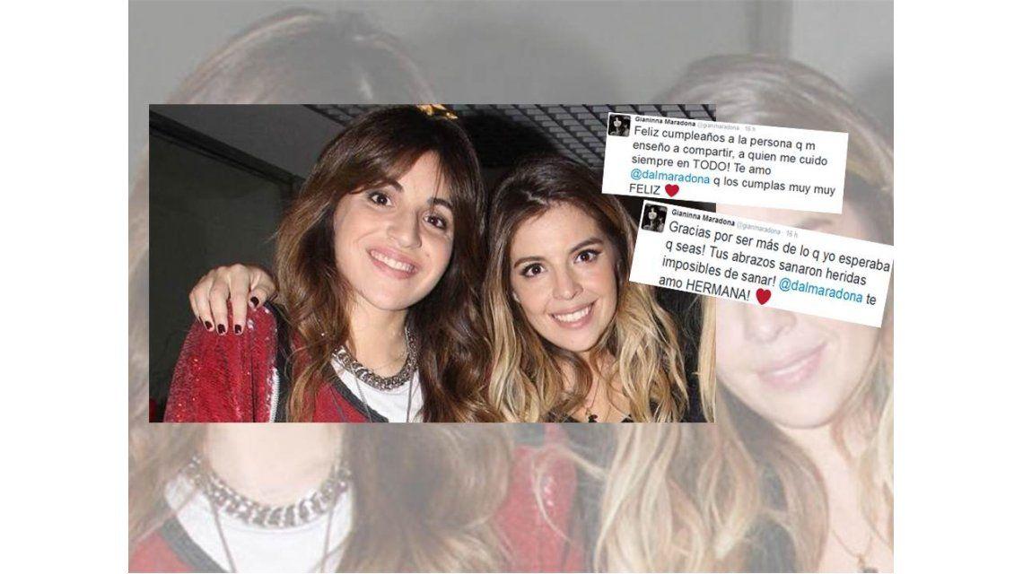 Gianinna Maradona y un significativo mensaje a Dalma por su cumple: Tus abrazos sanaron heridas