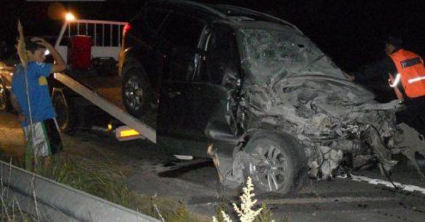 El choque de Chano Charpentier contra un acoplado, en imágenes: así quedó su auto