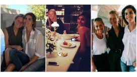 Gwyneth Paltrow, con Delfina Blaquier y Jimena Monteverde en Buenos Aires