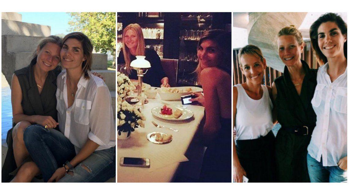 Gwyneth Paltrow, con la modelo Delfina Blaquier y Jimena Monteverde en Buenos Aires