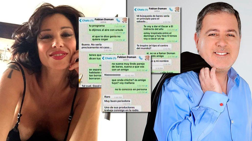Los chats que prueban el romance entre Érica García y Fabián Doman: Sos mi pareja de bares